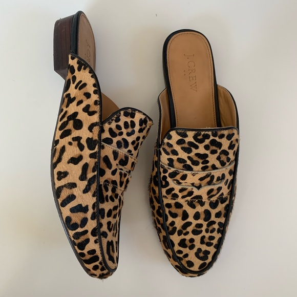 9edefb10d3f4 J. Crew Shoes | Jcrew Leopard Mules Size 85 Animal Print Flats ...